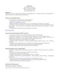 phlebotomy resume objective 210 x 140 phlebotomy resume objective