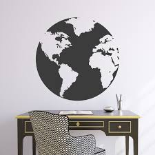 World Map Wall Sticker by Wall Decal 22w Globe World Map Wall Vinyl Sticker
