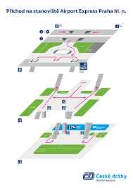 Prague Subway Map by Airport Express Bus Prague Airport Prg