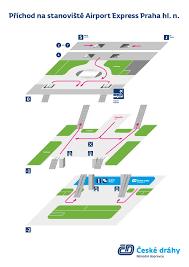 Prague Metro Map by Airport Express Bus Prague Airport Prg