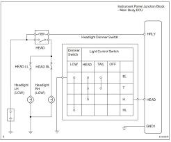 toyota rav4 service manual headlight relay circuit data list