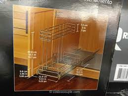pull out cabinet organizer costco richelieu pull out cabinet organizer
