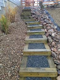 Landscaping Ideas For Big Backyards How To Build Steps On A Slope Recherche Google Sloped Ideas