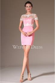 short sleeve pink satin baby party dress uk