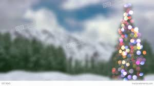blurred christmas tree and forest loopable animation 4k 4096x2304