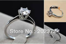 white zircon rings images Vintga 18k white gold plated wedding ring finger ring engagement jpg