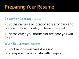 Resume Education Section Getting The Job You Want Ppt Video Online Download
