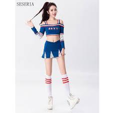 Cheerleader Halloween Costume Buy Wholesale Blue Cheerleader Costume China Blue