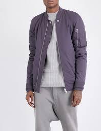 rick owens zip pocket shell er jacket in purple for men lyst