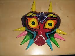 paper halloween mask majora u0027s mask paper mache 7 steps