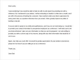 awesome collection of cover letter for reference request about