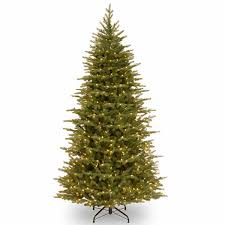 national tree co 7 1 2 foot nordice spruce slim hinged pre lit