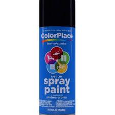 colorplace gloss spray paint black walmart com