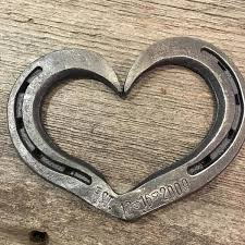 personalized horseshoes personalized est horseshoe heart gift for wedding iron