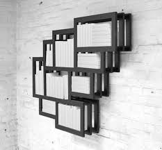Modern Wall Mounted Shelves Sculptural Wall Mounted Shelf For Books Of Various Heights
