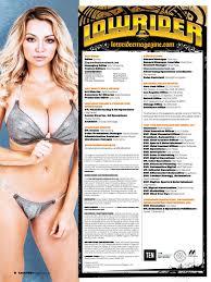 Magazine Usa Lindsey Pelas In Lowrider Magazine Usa August 2015 Celebzz Celebzz