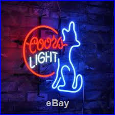 vintage coors light neon sign coors light neon sign doggy light beer pub club vintage patio bistro
