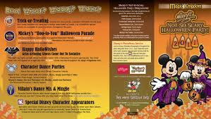 mickey u0027s not so scary halloween party guide map 2011 photo 1 of 2