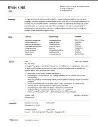 Sample Resume For Chef by Professional Resume Cover Letter Sample Chef Resume Free