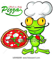 chef pizza clip of chef frog with pizza k20492298 search