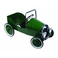 children s classic green pedal car great gizmos