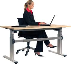 Height Adjustable Office Desks by Aluforce Pro 250 M Sit Stand Electric Office Workstation