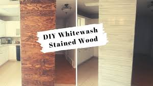 how to whitewash stained cabinets diy whitewash stained wood shiplap wall