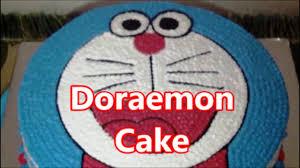 tutorial gambar kepala doraemon how to make unique doraemon cake youtube