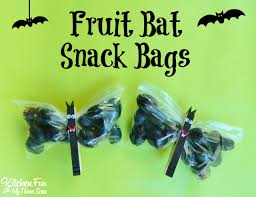 halloween fruit bat snack bags halloween fruit snack bags and bats