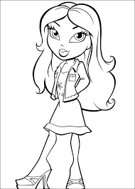 bratz printable coloring pages girls colorings net