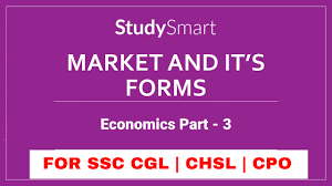 types of market and competition economics part 3 for ssc cgl