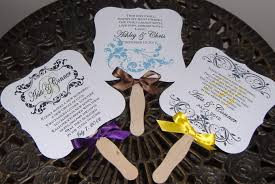 personalized fans for weddings wedding fans personalized program