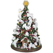 danbury mint tree dogs bichon frise tree