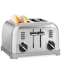 High End Toasters Cuisinart Cpt 180 Toaster 4 Slice Classic Brushed Chrome