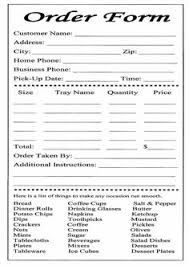 dinner order form template catering invoice template 9 catering invoice templates