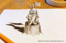 anamorphic drawing stolloween