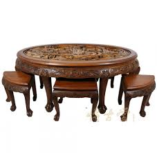 Carved Coffee Table Antique Coffee Table Rustic With Floor Image Of Chinese Mother