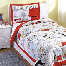 Snoopy Bed Set Size Peanuts Comforter Set Snoopy Brown