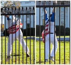 American House Flag White House Lockdown After Man Draped In American Flag Scales Fence