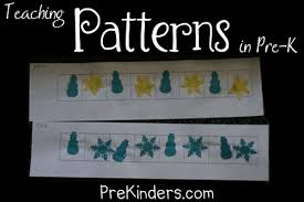 pre k math patterns prekinders