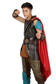 Thor Ragnarok Thor Costume Black Pu Leather Sleeveless Cosplay