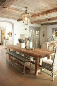 rustic dining table with bench love this updated take on a rustic provence kitchen love the