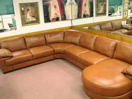 Presidents Day Sale Furniture by Natuzzi Editions Leather Sectionals B684 Cognac Leather Sale