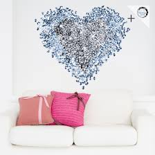 wall stickers the original on your deco shop co uk product picture wall decal no 421 diamond heart 15
