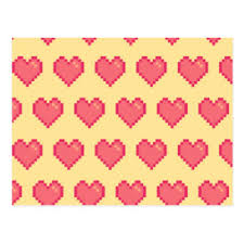pixel wrapping paper pixel heart gifts on zazzle