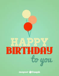 Birthday Card Ai Retro Birthday Card Balloons Illustration Vector Free Vector