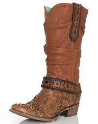 womens cowboy boots uk s python harness slouch boots honey