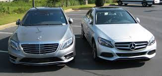 mercedes c class vs s class benzblogger archiv 2015 c300 and 2015 s550 side by side
