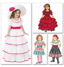 Halloween Costume Patterns Babies M6418 Pattern Costa Rican Traditional Women U0027s