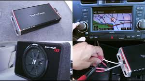 car amplifier and subwoofer installation rockford fosgate and